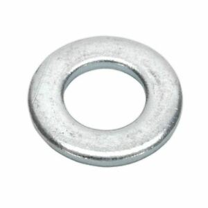 Sealey-Flat-Washer-M10-x-21mm-Form-A-Zinc-DIN-125-Pack-of-100-FWA1021