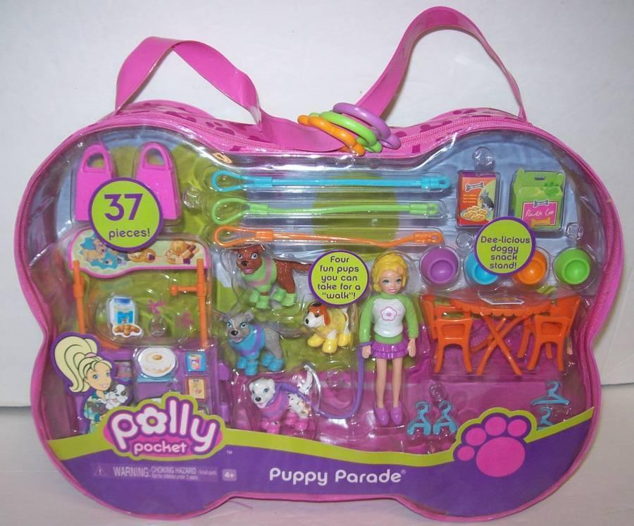 Polly Pocket Muñeca Cachorro Perro Desfile 37 Piezas Mattel 2006 Nuevo