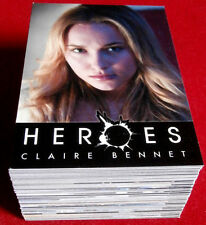 HEROES Season One (feat. Zachary Quinto) - COMPLETE BASE SET (90 Cards) - Topps