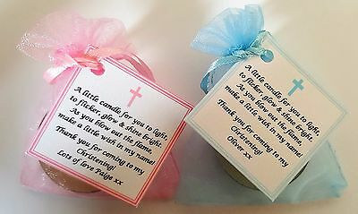 1 100 CHRISTENING, BAPTISM, FIRST HOLY COMMUNION CANDLE FAVOURS GIFTS | eBay
