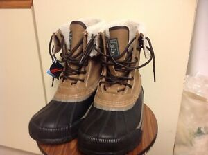 7ff7afb5ff0 Details about G.H. Bass Duck Boots 8M Duck Waterproof Snow Rain Leather  Rubber Mens