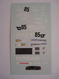 DECALS-KIT-1-43-NISSAN-R88C-LE-MANS-1988-DECALS