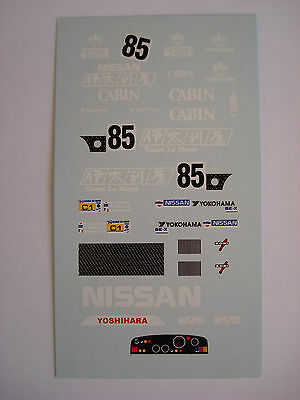 DECALS KIT 1//43 NISSAN R88C 24h LE MANS 1988 DECAL DECALCOMANIA