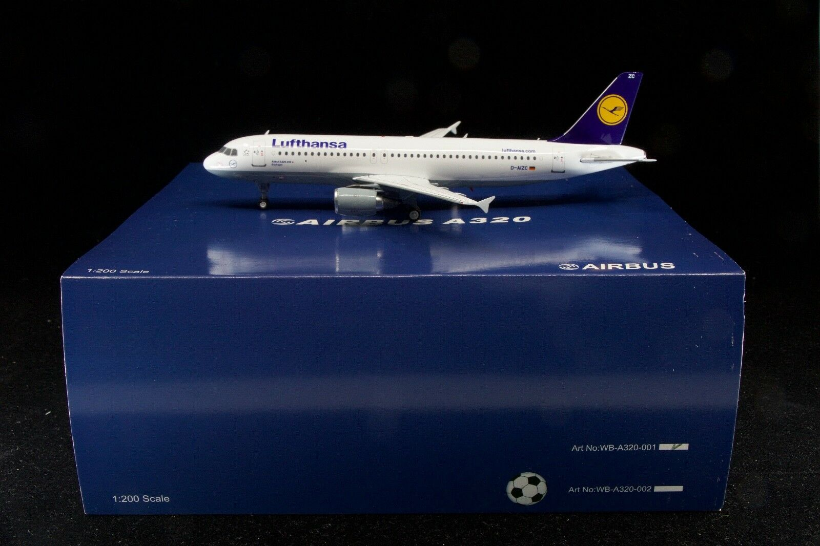 Inflight200 bianca Box Models 1/200 Lufthansa A320-214