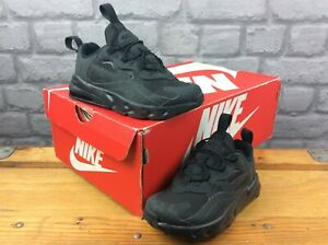 NIKE MENS UK 8.5 EUR 29 AIR 270 REACT BLACK TRAINERS CHILDRENS RRP £50 C
