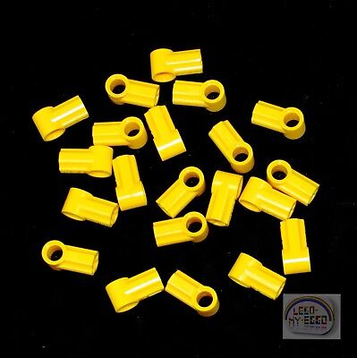 Lego Lot of 100 New Yellow Technic Axle and Pin Connector Angled #1 Pieces