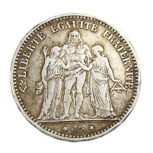 Piece-Argent-France-5-francs-Hercule-1874-A-Atelier-de-Paris-Silver-Coin-France