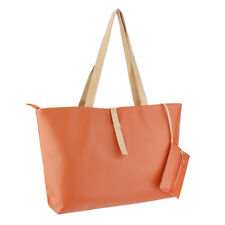 Women's Large Elegant Tote Shoulder Bag Handbag Purse Travel Work-Orange