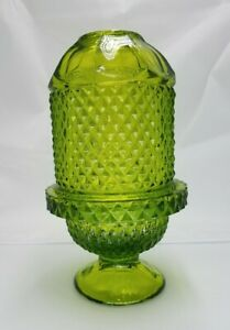 Viking-Glass-Vintage-Green-Diamond-Point-Fairy-Tea-Light-Candle-Lamp