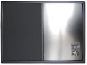Bacheche Per Ufficio : Bacheca tessuto più lavagna magnetica cornicegrigio met. per casa