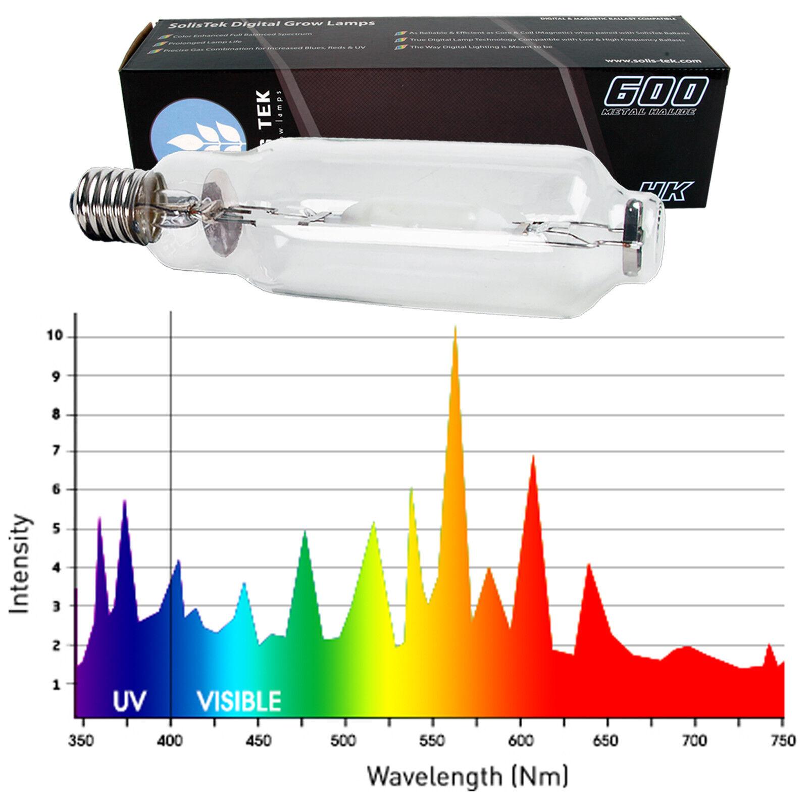 Solistek 600W MH se 4K Lámpara hidropónica de un solo extremo de luz del día crecer Bombilla