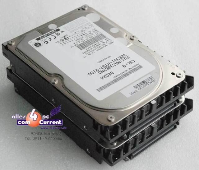 36 GB FUJITSU MAS3367NC CA06227-B23400FS S26361-H737-V100 SCSI HARD DRIVE #K365