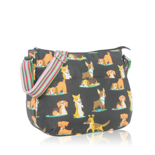 Oilcloth Satche mujerShoulder Bag Dogs Ladies black turquoise Cross grey Body Fashion Beige Messenger Tote gAq5HWWz