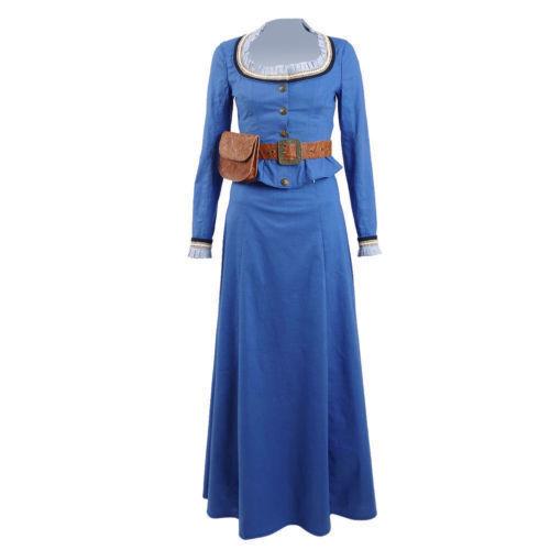 Westworld Dolores Abernathy Blue Dress Cosplay Costume Halloween Custom Made!QW