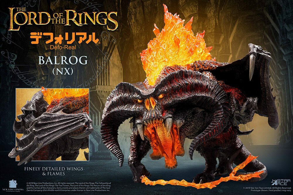 Balrog The Lord Of The Rings Defo-Real Series Figura 16 cm By Star Ace