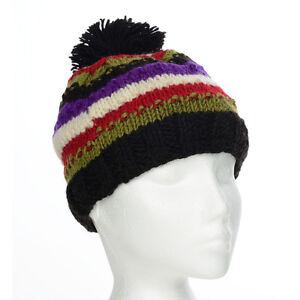 a5a2314dd76 Image is loading Funky-Hand-Knit-Winter-Woollen-Beanie-Brighton-Bobble-
