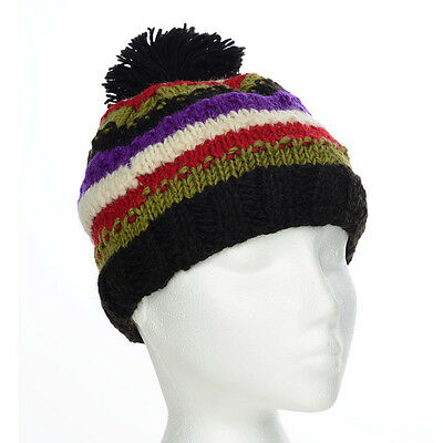 Funky Hand Knitted Winter Woollen Beanie Hat UNISEX NB12 One Size
