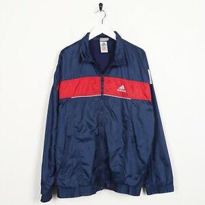 Vintage-90s-Adidas-Piccolo-Logo-Soft-Shell-Giacca-a-Vento-Blu-Navy-Medio