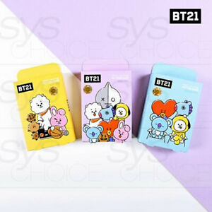 BTS-BT21-Official-Authentic-Goods-Pattern-Band-3TYPE-3SET-Tracking-Number