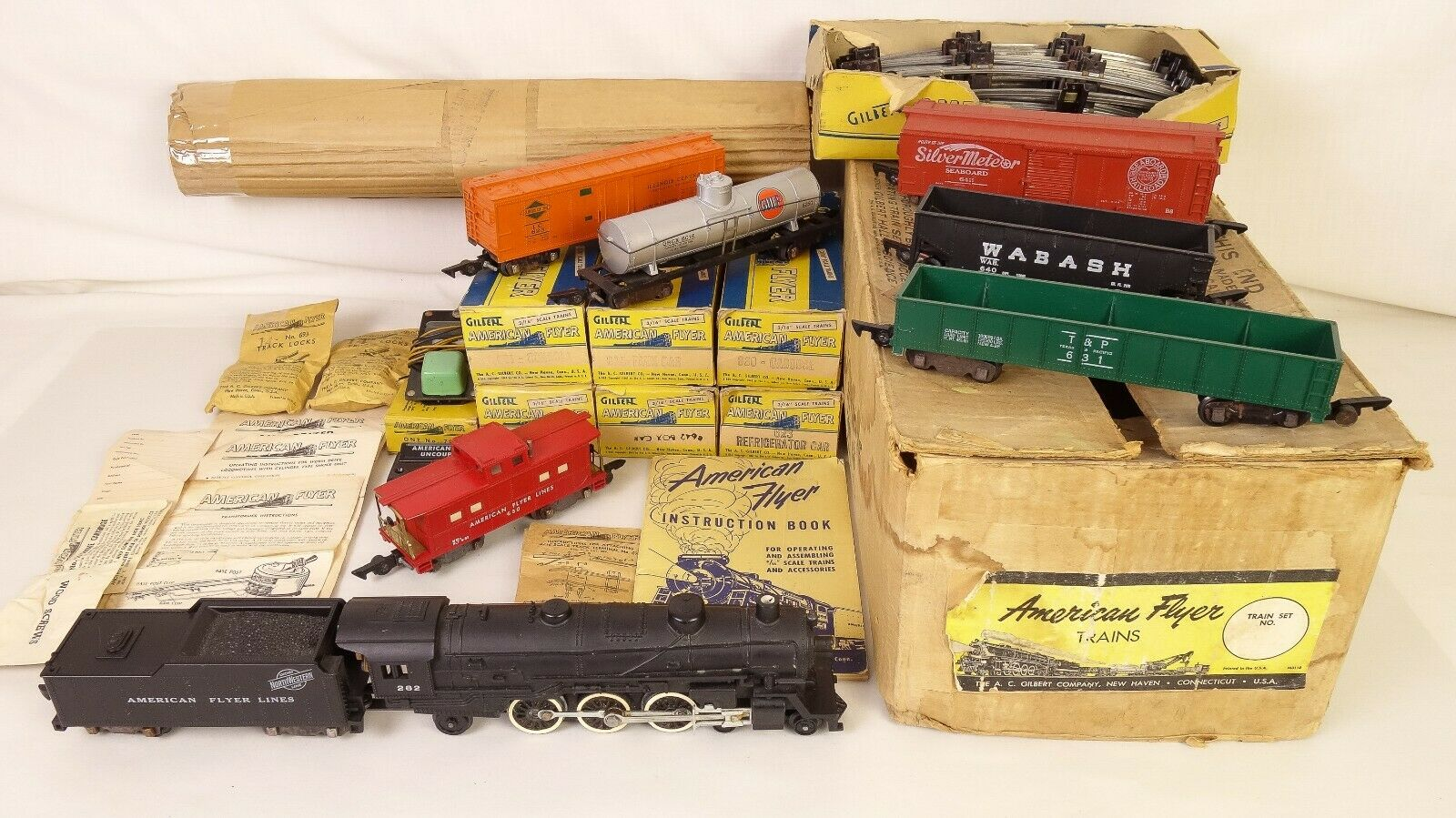 AMERICAN FLYER MOUNTAINEER SET 5323T W 282 LOCO-TENDER & FREIGHTS-EX+W OBS