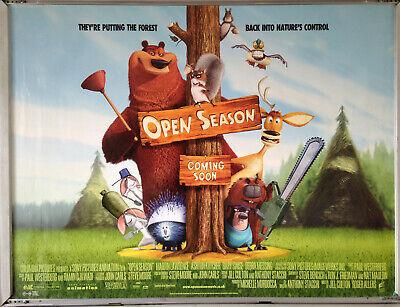 Cinema Poster Open Season 2006 Quad Ashton Kutcher Gary Sinise Ebay