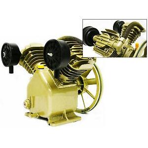 Twin cylinder v air compressor pump 3hp 2 piston motor for Air compressor pump and motor