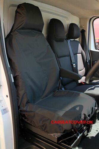 NEW RENAULT TRAFIC 2014 ON DUTY BLACK WATERPROOF DRIVER SEAT COVER TAILORED H