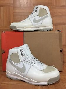 best service 66fed f278c Image is loading VNTG-Nike-Air-Baltoro-ACG-Hiking-Shoes-White-