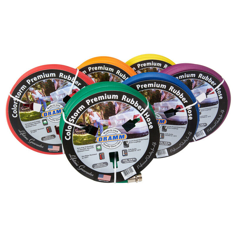 Dramm 10-17100 Assorted Colors Heavy-Duty Garden Hose 5/8 Dia. in. x 25 L ft.