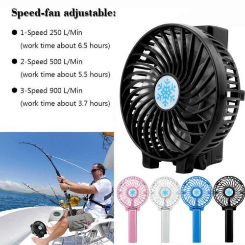 NEW Portable USB Rechargeable Handheld Mini Air Conditioner Cooler Fan Durable