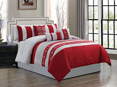 7p Lumi Hexagram Diamond Fl Damask, Red Queen Bed Set