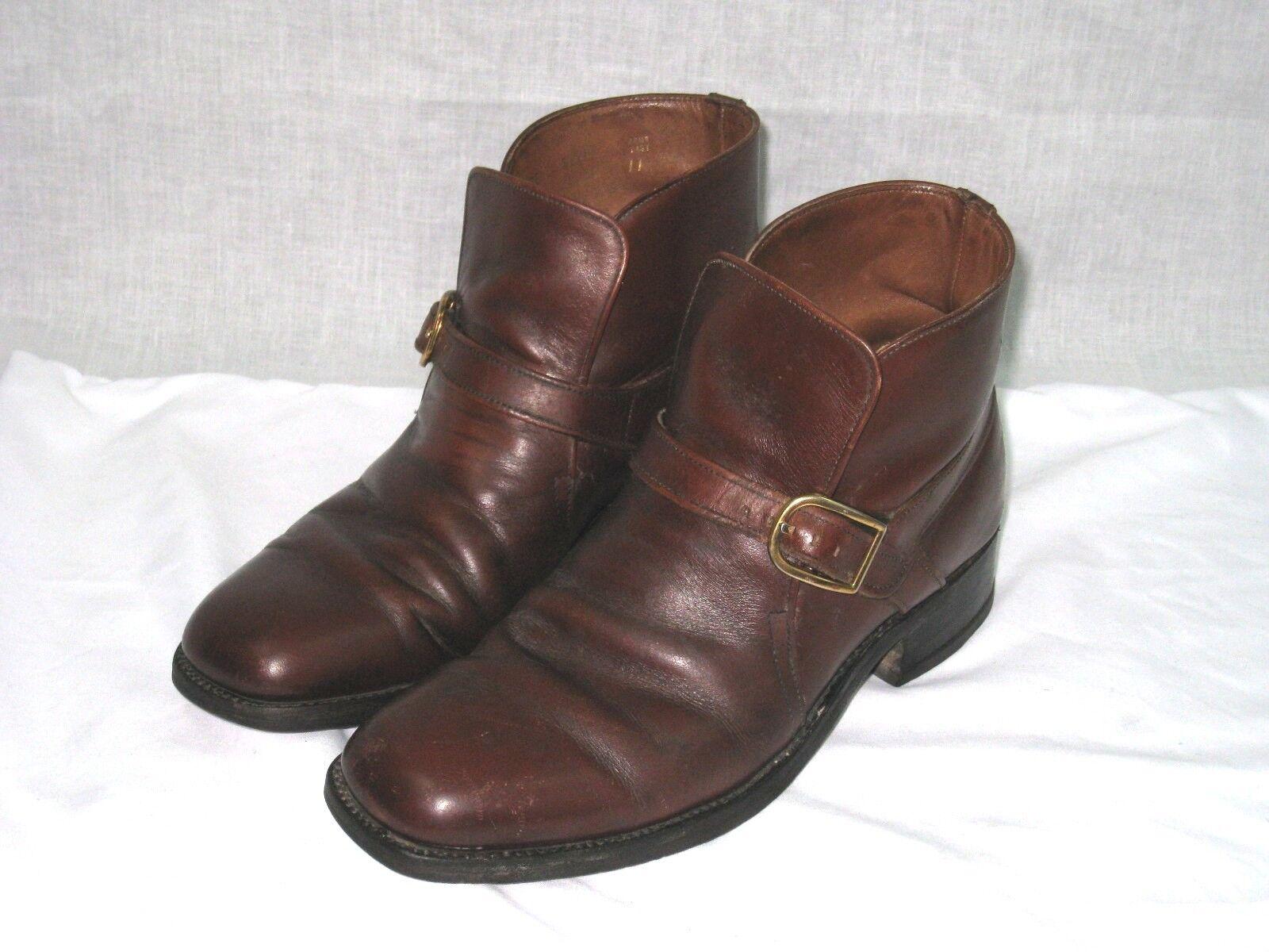 66933d263ce5d Men Vintage Sears Hipster steampun MONK MONK MONK Buckle Ankle Boots 7.5D  3a3ce5