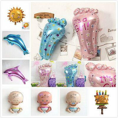 Boys and Girls Baby Shower Baptism Giant foil Balloon Decoration Dolphin SunQY