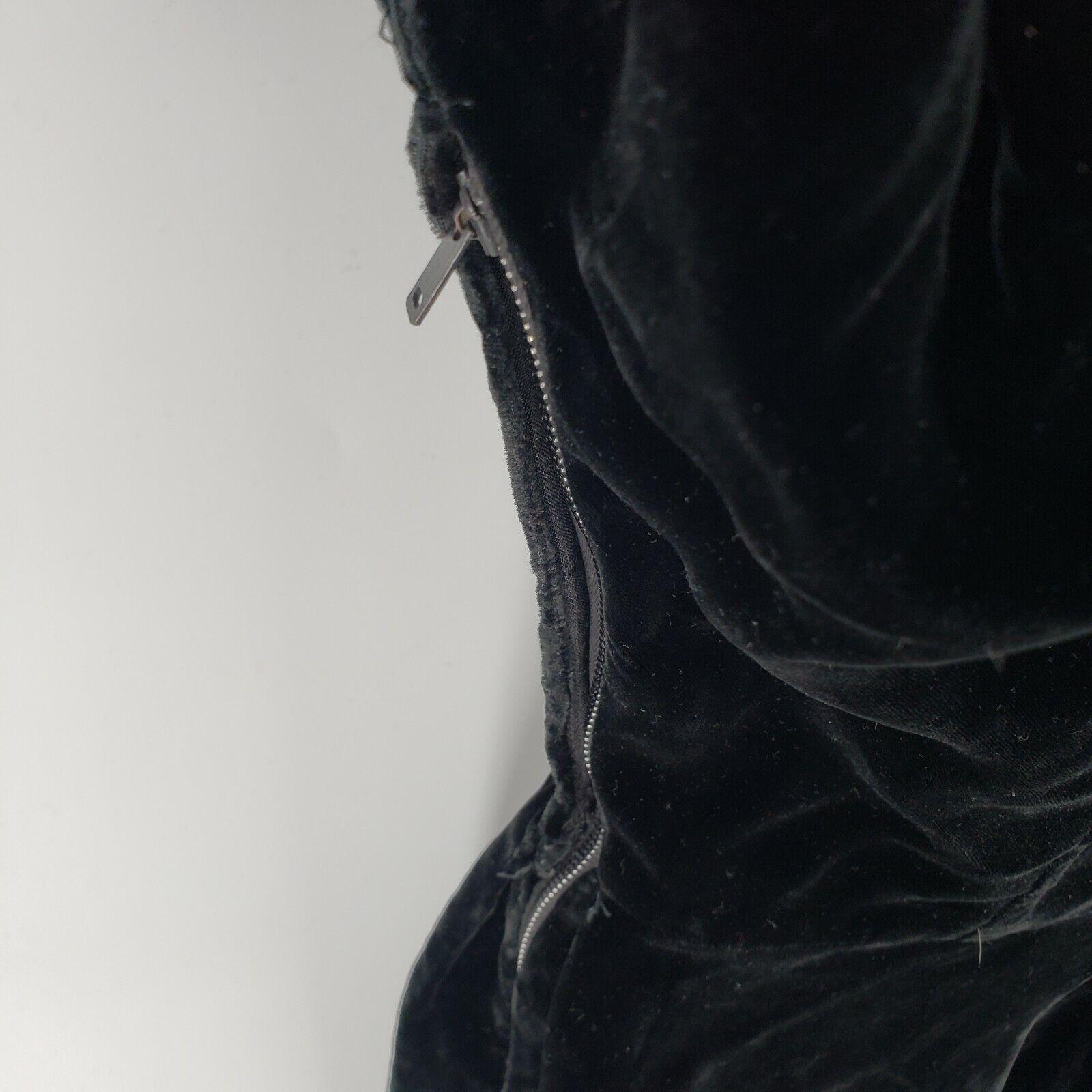 Ceil Chapman Collared Black Velvet Gown  Peplum T… - image 5