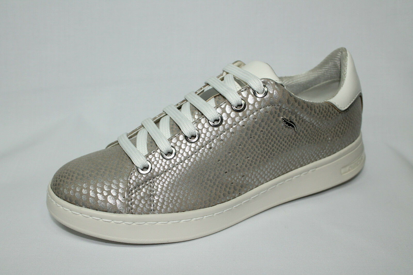 shoes Sneakers Geox D Jaysen A silver tipo Stan Smith listino - 20%