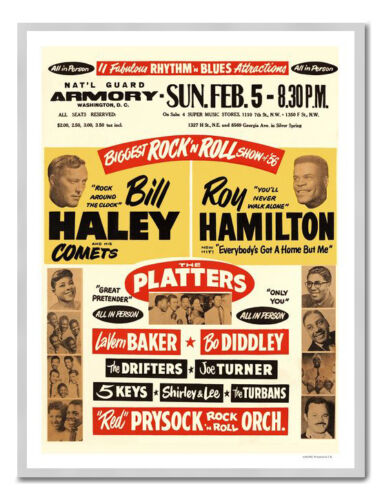 Bill Haley Roy Hamilton Rock N Roll Print Framed And Memo Board Available
