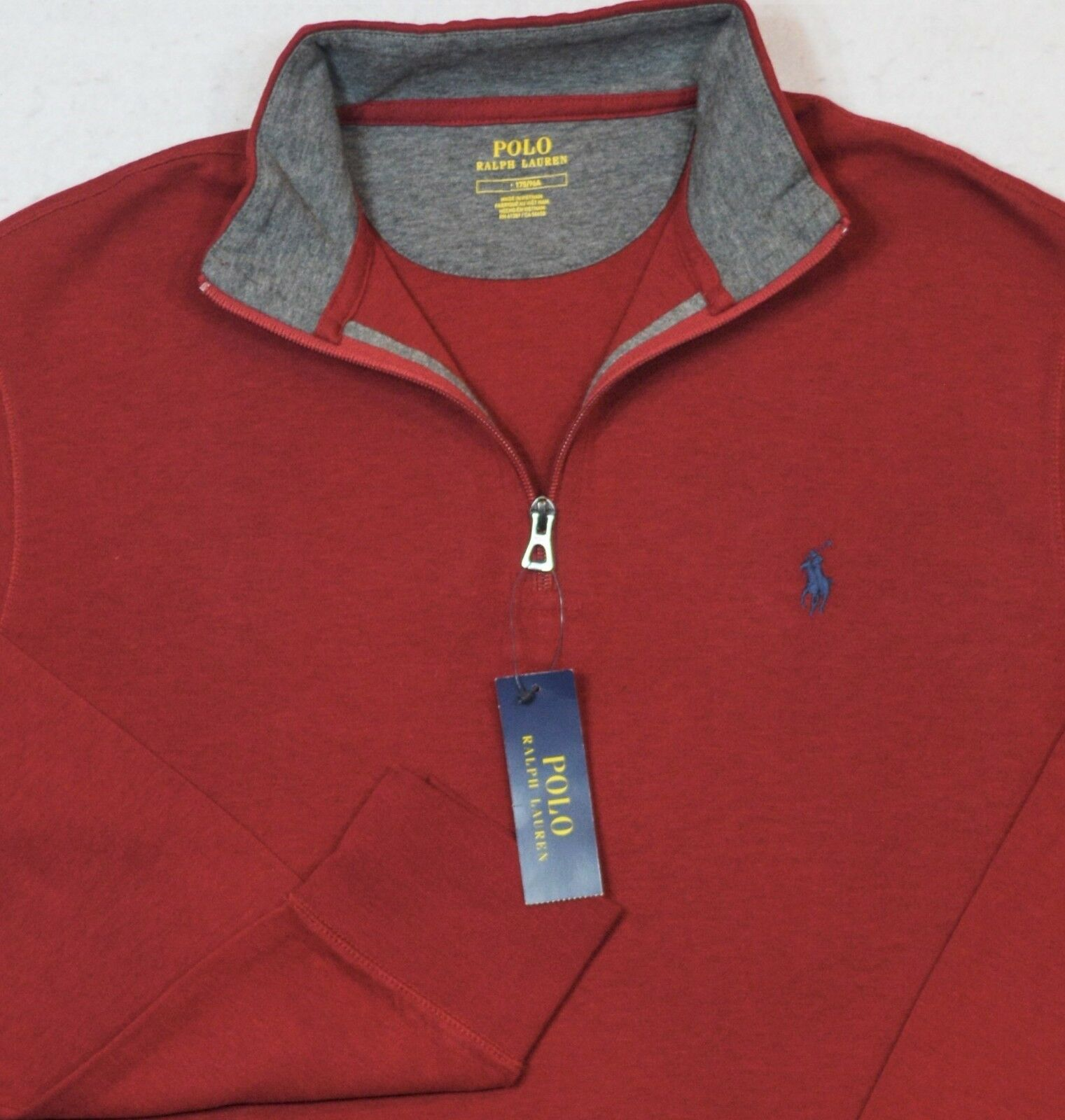 Polo Ralph Lauren Jersey Pullover rosso 1/2 Size Half-Zip Size 1/2 XL NWT 76d26f