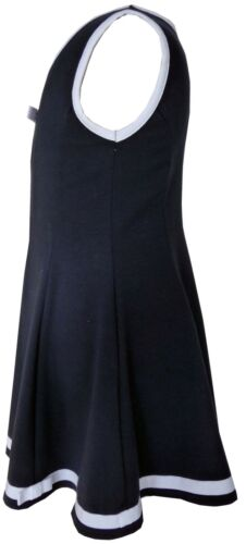Trocadero Sommer Kleid Stretch-Elastisch Mädchen Marine mit Schleifen JULINA