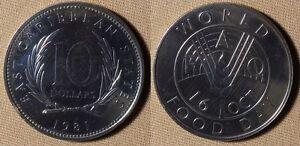 East Caribbean State : 1981  10 Dollars  Gem BU  #16   IR1930