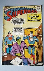 DC-Comics-Superman-143-1961-VG-4-0-First-Print-Bizarro-StoryTeller