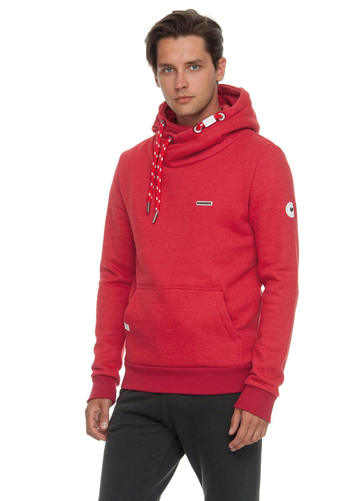 Ragwear nate nate nate rosso Hoody con cappuccio Pullover a564e5