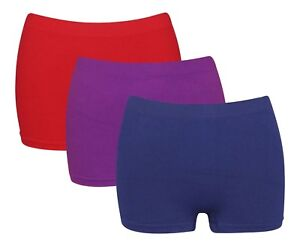 3-x-Femmes-Taille-Haute-Wicking-microfibre-femme-Boxer-Shorts-Running-Active-G3
