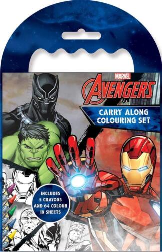 Marvel Classic Avengers Carry Along Colouring Set Iron Man Captain America