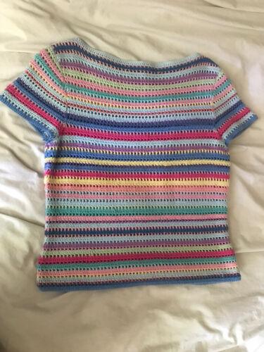 beachy pastel crochet summer top cotton