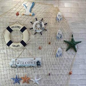 Fischernetz Deko baumwolle dekonetz deko fischernetz beige blau netz badezimmer