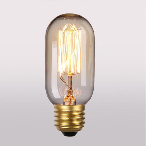 New Vintage Style Edison E26 40W T10//T45//T300 Filament Light Bulb Tube Lamp 110V