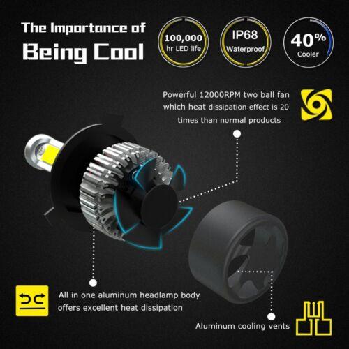 2PCS H1 LED Headlight Conversion Kit 100W 11000LM Fog Light Bulbs Lamps 6000K