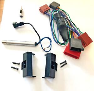 Radio-Blende-fuer-AUDI-A4-B5-bis-Bj-99-Rahmen-Aktivsystem-Adapter-ISO-Kabel-DIN