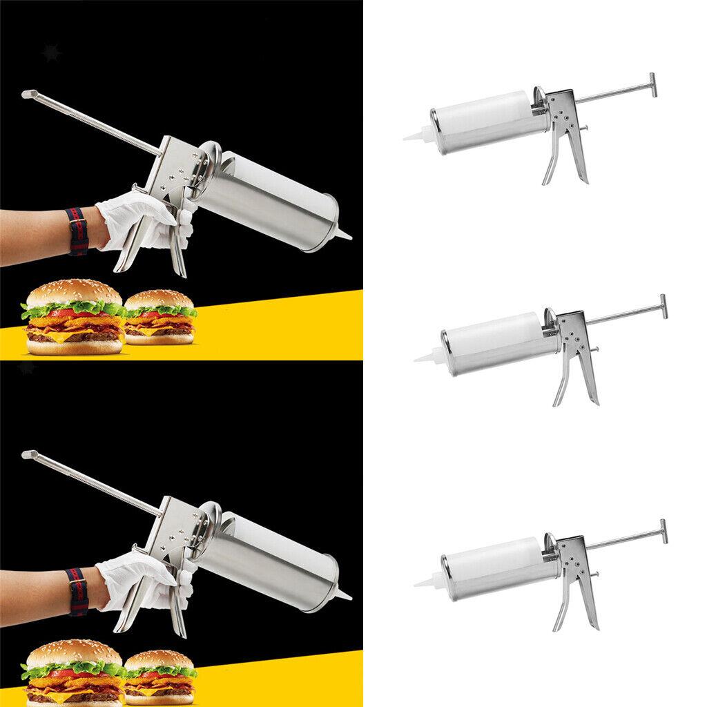 3x Professional Hamburger Ketchup Sauce Bouteille Pompe avec Réutilisable Cartouche
