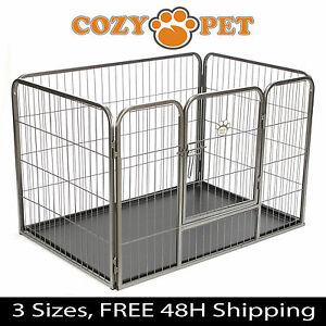 Exceptional Image Is Loading Heavy Duty Cozy Pet Puppy Playpen Run Crate